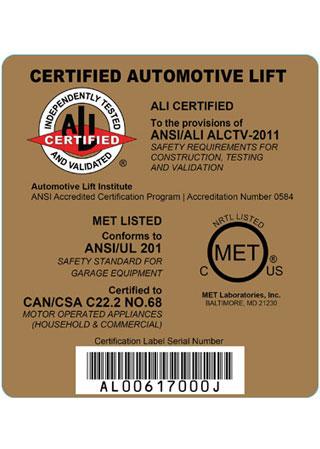 США ALI Сертификация