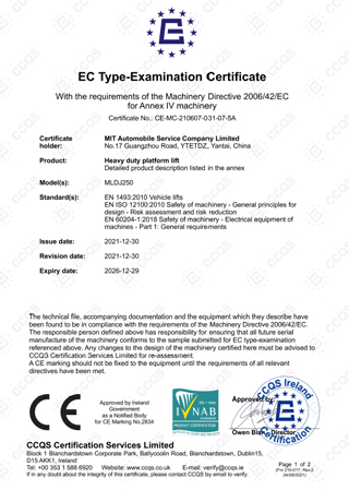 CE Сертификация